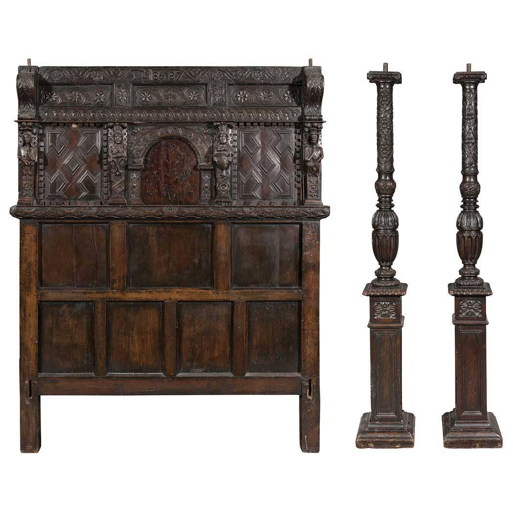 Late 17th Century Elizabethan Tester Bed Owned By Bayard