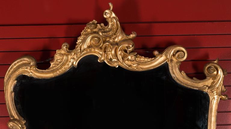 "19th Century German Sofa and Mirror or ""Canape De L'amitie"" in Louis XV Style 6"