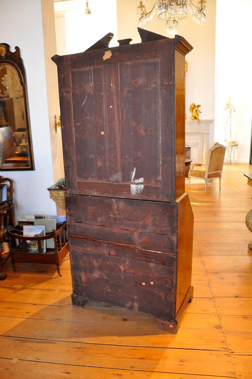 Period George Iii Chippendale Mahogany Secretary Bookcase