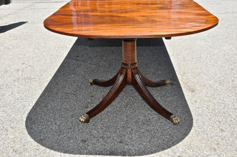 Period Regency Two Pedestal Dining Table of Well Figured Mahogany 4