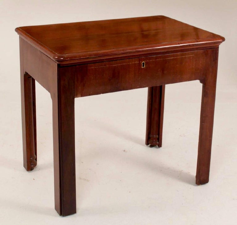Period Georgian architect's table or desk --Metamorphic --Cubanmahogany --Writingsurfaces and racheted book supports --A very well construction version.