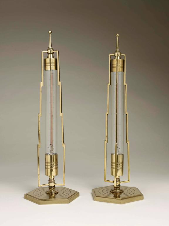 pair of art deco table lamps for sale at 1stdibs. Black Bedroom Furniture Sets. Home Design Ideas