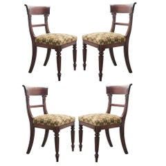 Set of Four English 19th Century Regency Mahogany Chairs