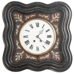 French 19th Century Napoleon III Inlay Wall Clock