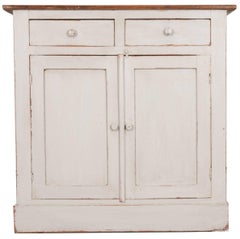 English 19th Century Painted Pine Buffet
