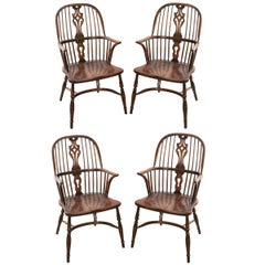 English Style Oak Windsor Chair Set