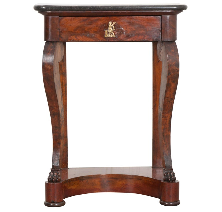 French 19th Century Walnut and Mahogany Restauration Console