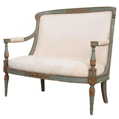 French 19th Century Parcel-Gilt Empire Settee