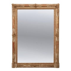 French 19th Century Gold Gilt Mantle Mirror