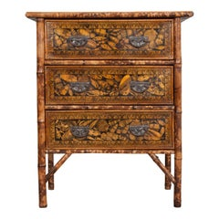 English 19th Century Découpage Shell Chest