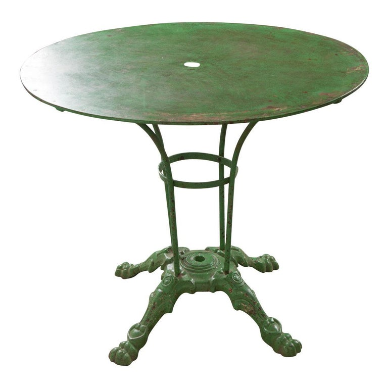 French Early 20th Century Painted Garden Table