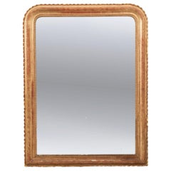 French 19th Century Gold Gilt Louis Philippe Mirror