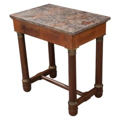 French Early 20th Century Mahogany Empire Table