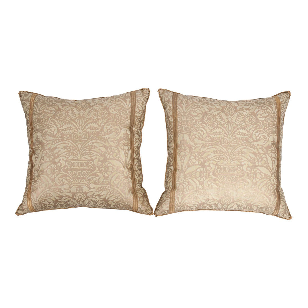 Pair of B. Viz Design Antique Fortuny Pillows