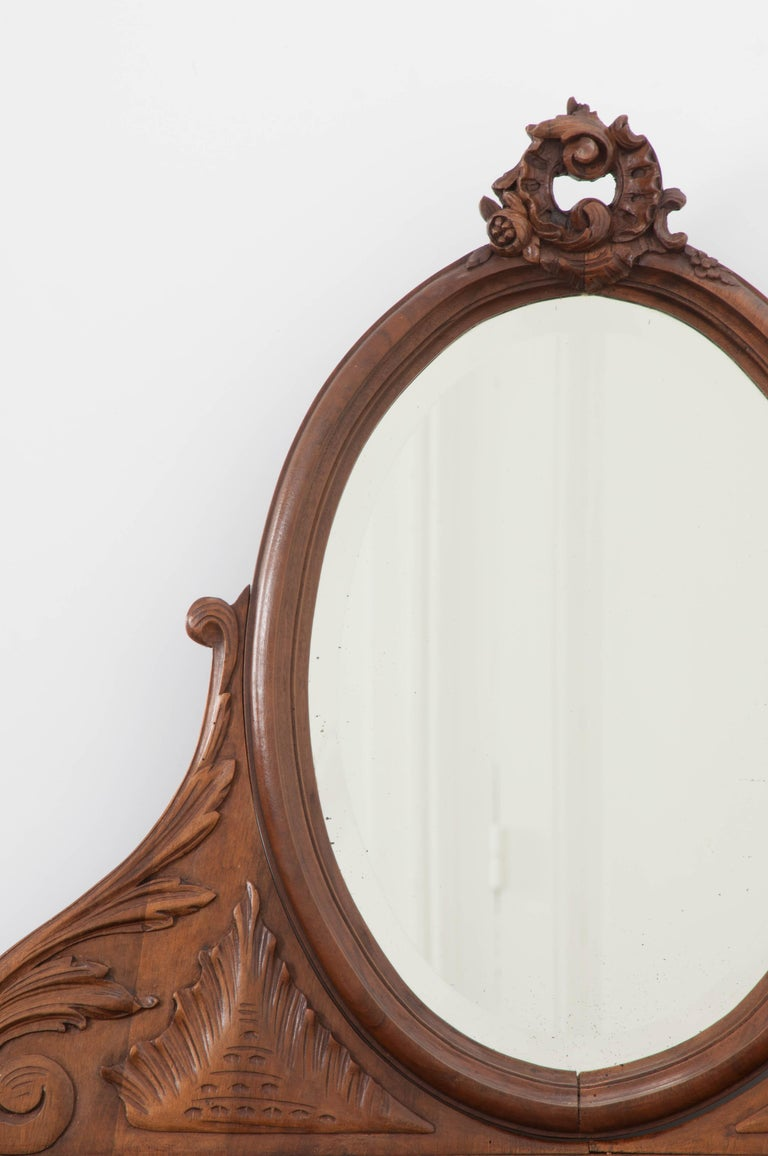 French, 19th Century Louis XV Style Walnut Vanity For Sale 1