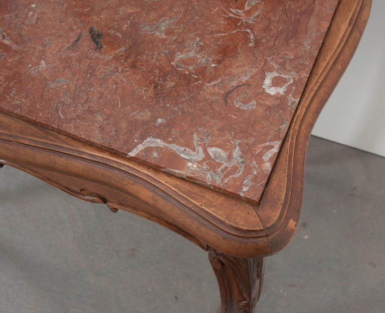 French, 19th Century Louis XV Style Walnut Vanity For Sale 5