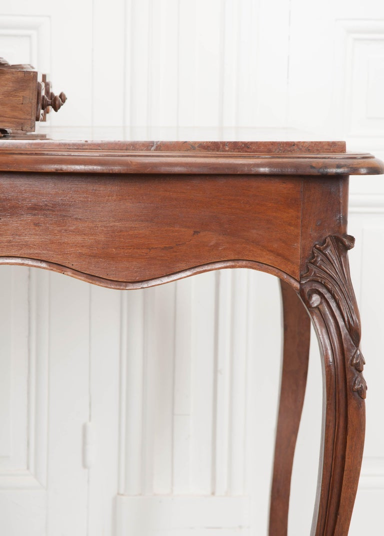 French, 19th Century Louis XV Style Walnut Vanity For Sale 9
