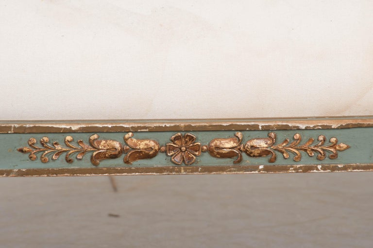 French 19th Century Parcel-Gilt Empire Settee For Sale 1