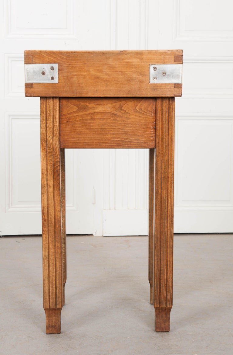 French 19th Century Butcher Block Table For Sale 8