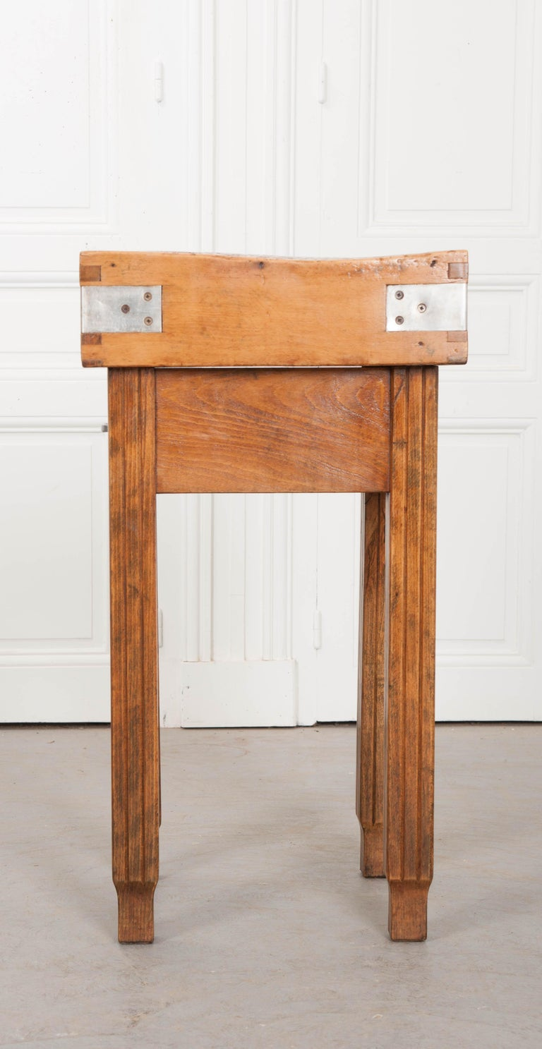 French 19th Century Butcher Block Table For Sale 2