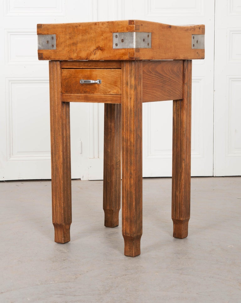 French 19th Century Butcher Block Table For Sale 3