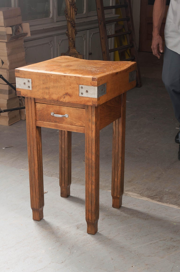 French 19th Century Butcher Block Table For Sale 5