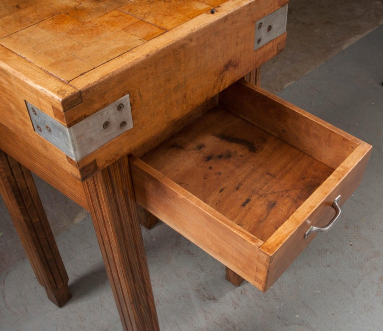 French 19th Century Butcher Block Table For Sale 7