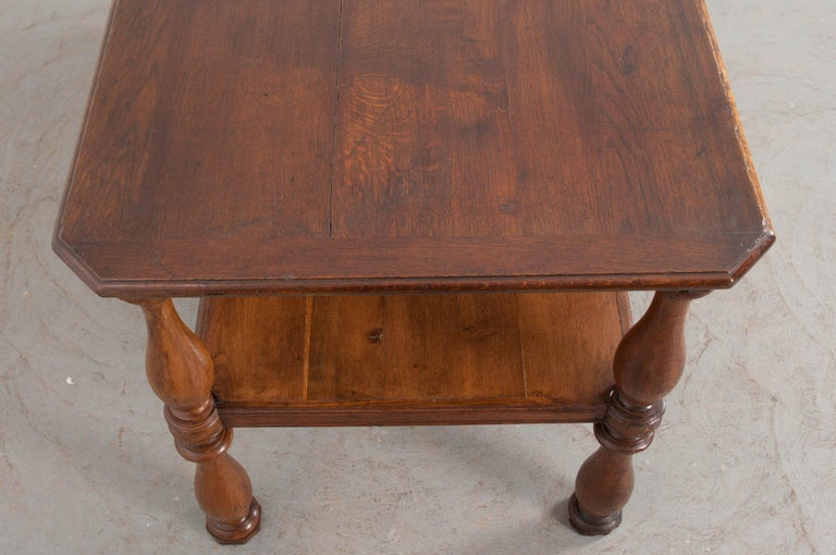 French 19th Century Oak Drapery Table For Sale 2