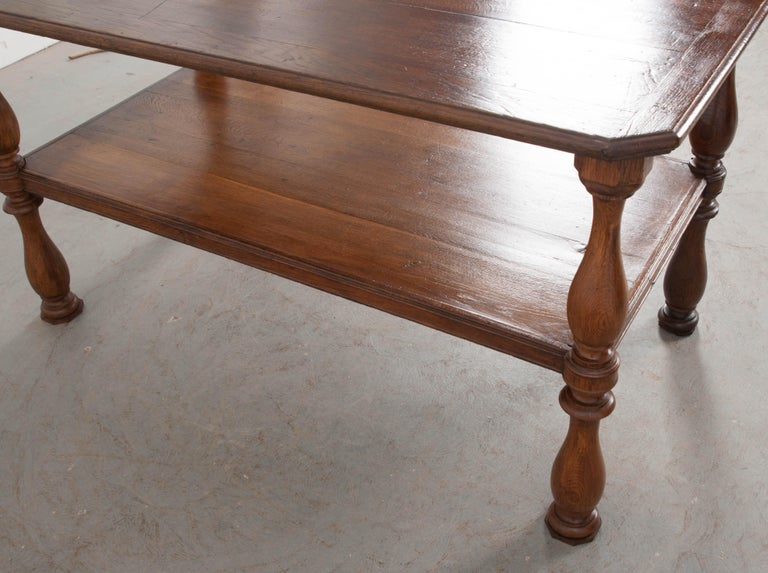 French 19th Century Oak Drapery Table For Sale 4