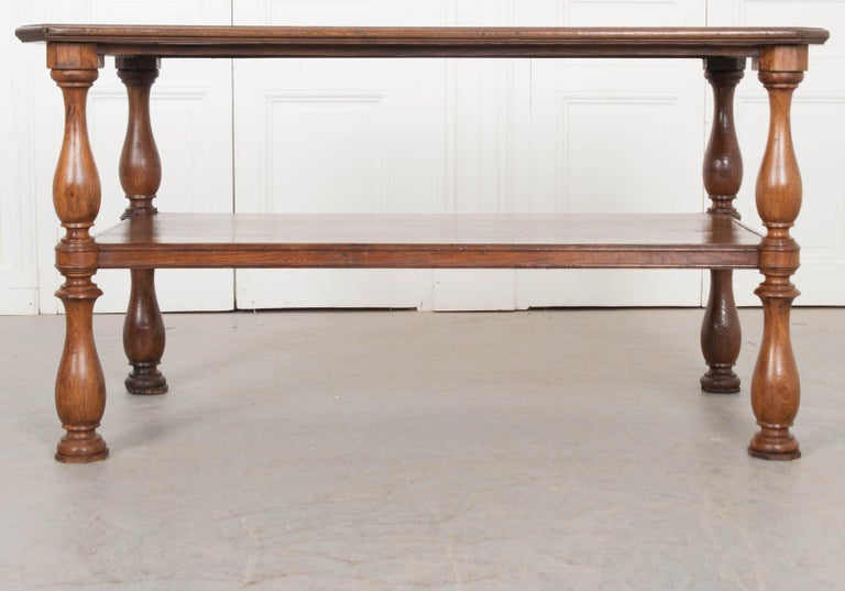 French 19th Century Oak Drapery Table For Sale 10
