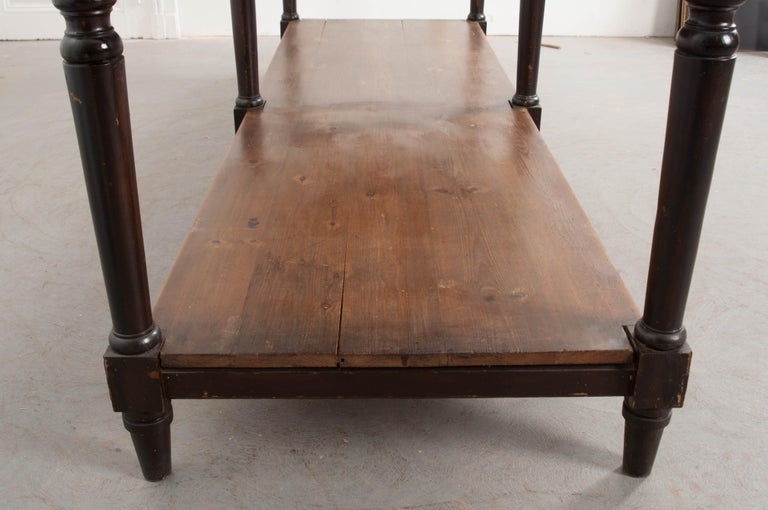 Hardwood Pair of Early 20th Century French Drapery Tables For Sale