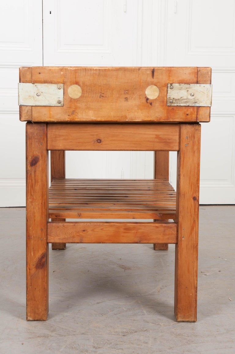 French Early 20th Century Pine Butcher Block For Sale 6