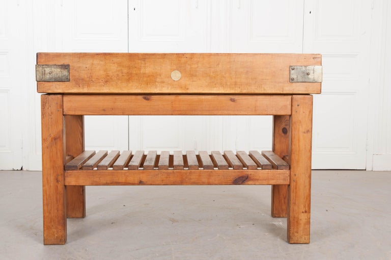 French Early 20th Century Pine Butcher Block For Sale 9