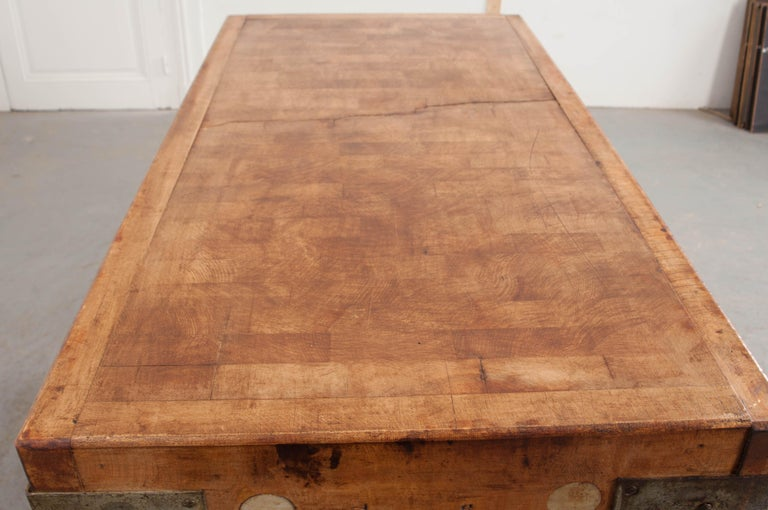 French Early 20th Century Pine Butcher Block For Sale 3