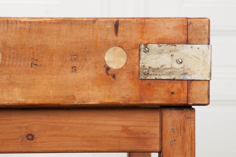 French Early 20th Century Pine Butcher Block For Sale 7