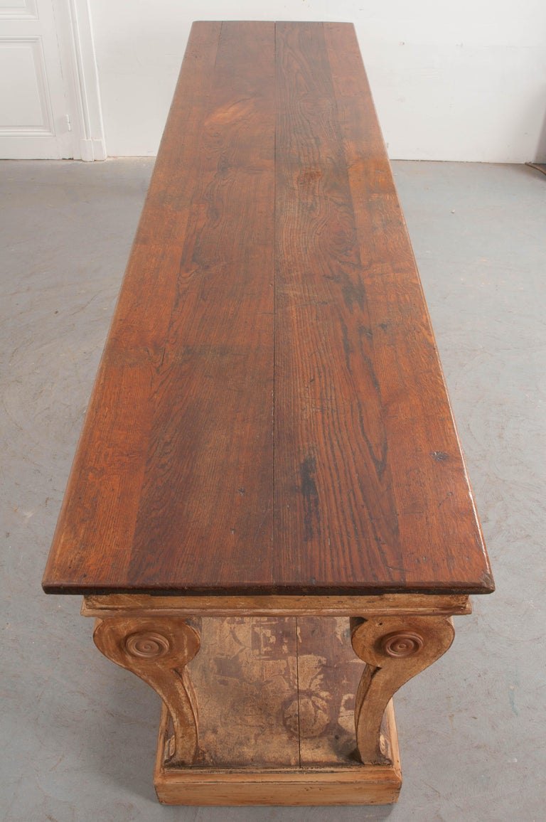 French 19th Century Painted Drapery Table For Sale 2