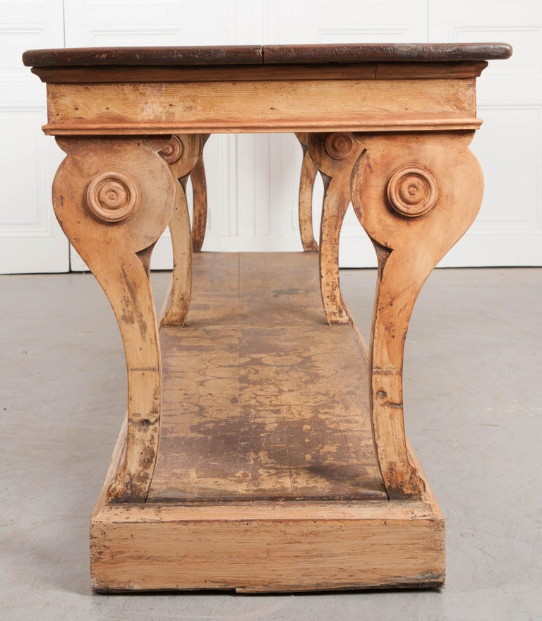 French 19th Century Painted Drapery Table For Sale 7