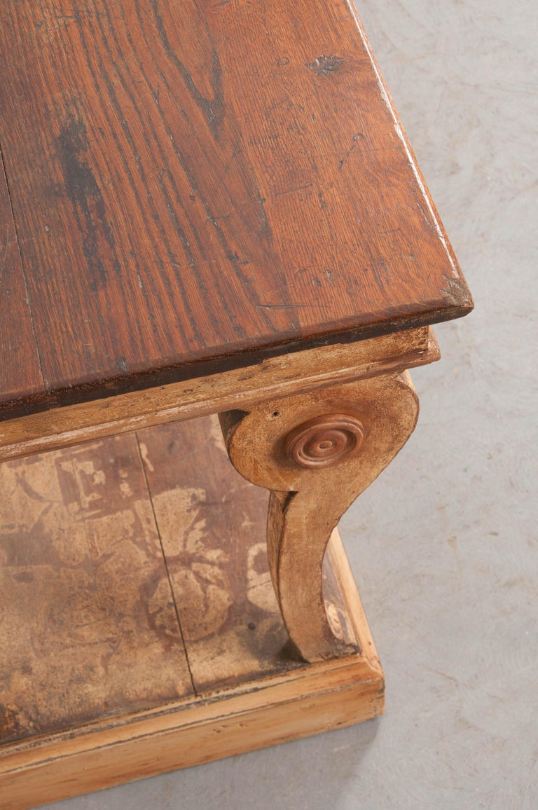 French 19th Century Painted Drapery Table For Sale 3
