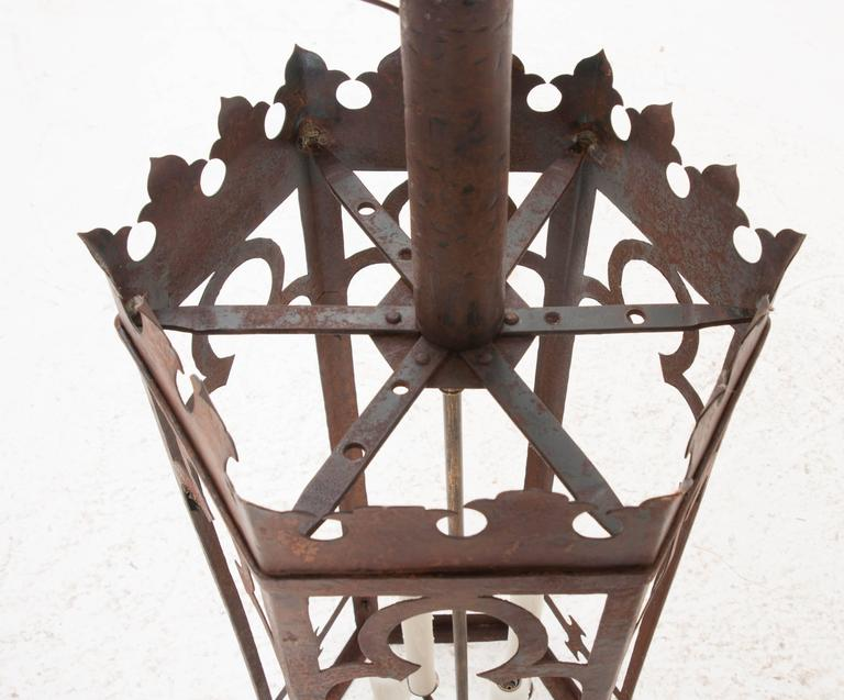 Pair Of Tall Gothic Style Lanterns At 1stdibs