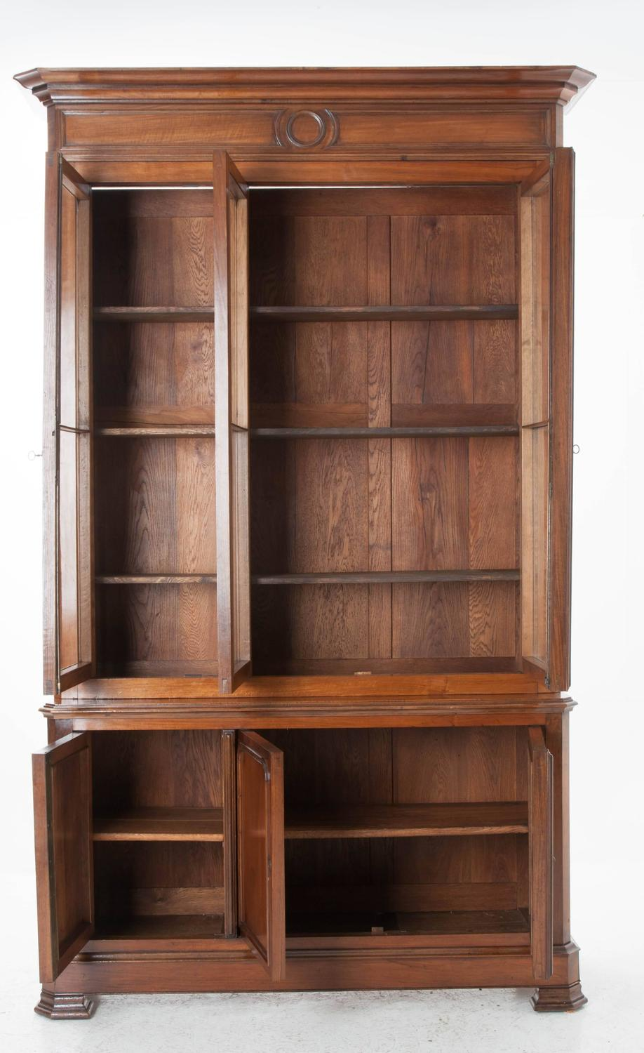 French 19th century walnut louis philippe bibliotheque at 1stdibs - Bibliotheque 4 cases ...