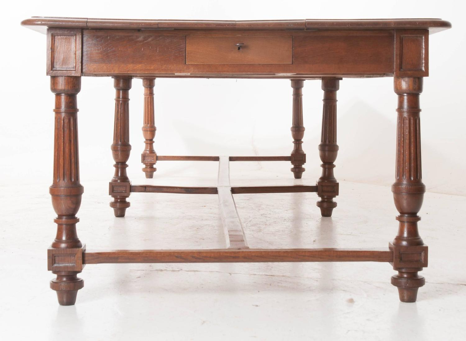 french 19th century oak dining table from nunnery in rouen at 1stdibs