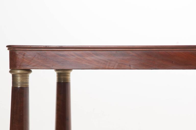 French 19th Century Empire Mahogany Dining Table For Sale 2