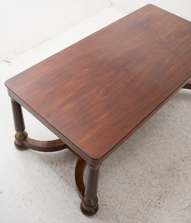 French 19th Century Empire Mahogany Dining Table For Sale 3