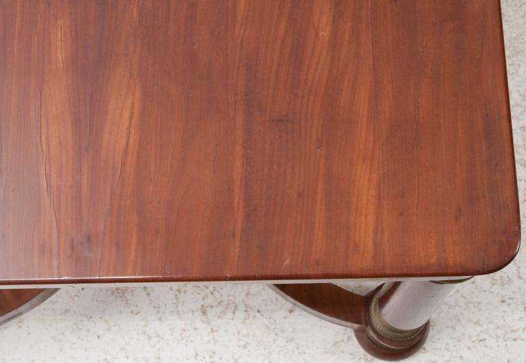 French 19th Century Empire Mahogany Dining Table For Sale 4