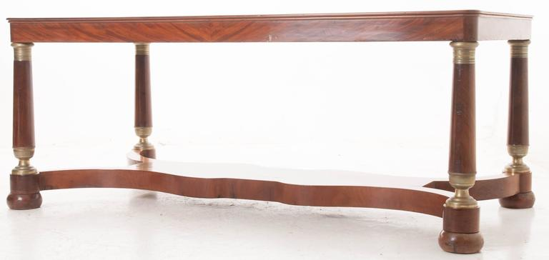 French 19th Century Empire Mahogany Dining Table For Sale 5