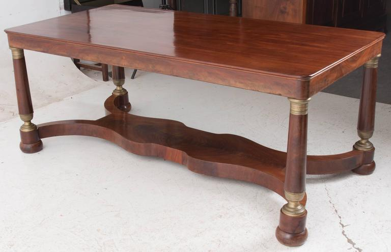 French 19th Century Empire Mahogany Dining Table For Sale 6