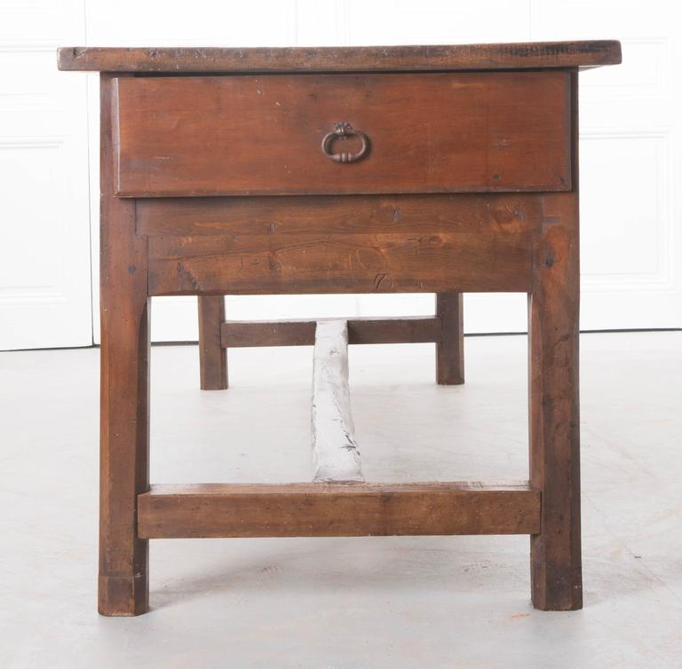 Farmhouse Kitchen Table With Drawers: French 19th Century Walnut Farm Table With Three Drawers