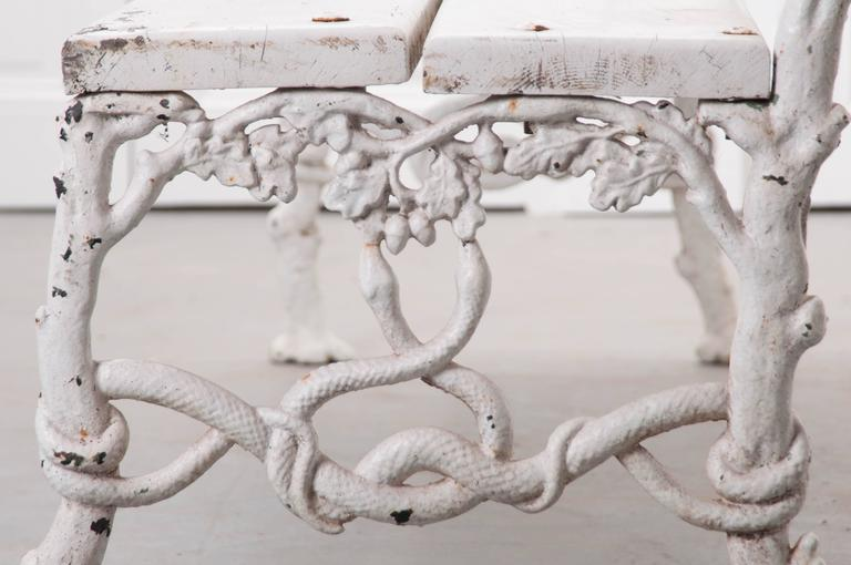 French 19th Century Painted Iron and Wood Garden Bench 7