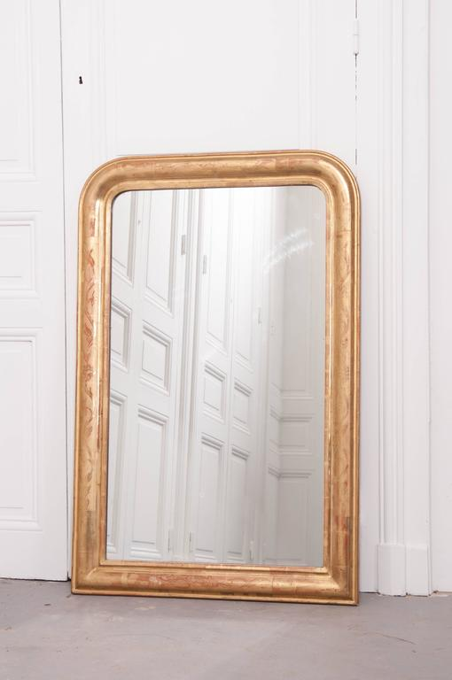 Mercury Glass French 19th Century Louis Philippe Gold Gilt Mirror For Sale
