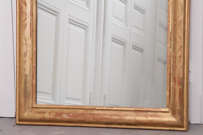 French 19th Century Louis Philippe Gold Gilt Mirror For Sale 3